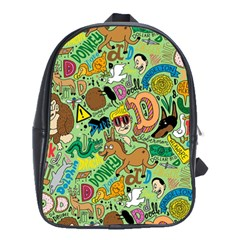 D Pattern School Bags(Large)  by AnjaniArt