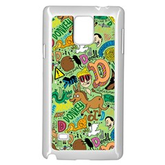 D Pattern Samsung Galaxy Note 4 Case (white) by AnjaniArt