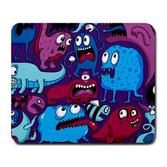 Deep Wow Purple Cartoons Large Mousepads by AnjaniArt