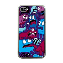 Deep Wow Purple Cartoons Apple Iphone 4 Case (clear) by AnjaniArt