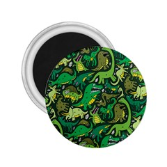 Dino Pattern Cartoons 2.25  Magnets by AnjaniArt