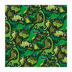 Dino Pattern Cartoons Medium Glasses Cloth (2-Side) by AnjaniArt