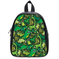 Dino Pattern Cartoons School Bags (small)  by AnjaniArt