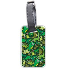 Dino Pattern Cartoons Luggage Tags (One Side)  by AnjaniArt