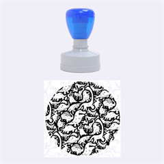 Dino Pattern Cartoons Rubber Round Stamps (medium) by AnjaniArt