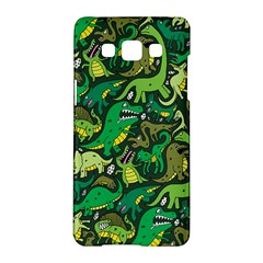 Dino Pattern Cartoons Samsung Galaxy A5 Hardshell Case  by AnjaniArt
