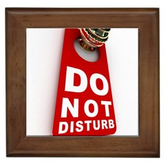 Do Not Disturb Framed Tiles by AnjaniArt
