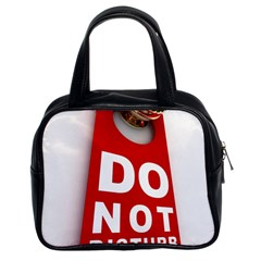 Do Not Disturb Classic Handbags (2 Sides) by AnjaniArt