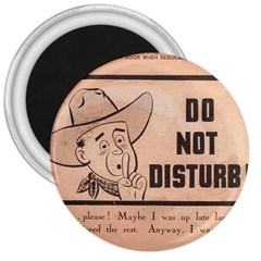 Do Not Disturb I Want To Sleep Thanks 3  Magnets by AnjaniArt
