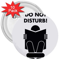 Do Not Disturb Sign Board 3  Buttons (10 Pack)  by AnjaniArt