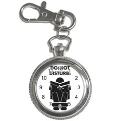 Do Not Disturb Sign Board Key Chain Watches by AnjaniArt