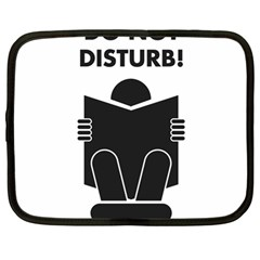 Do Not Disturb Sign Board Netbook Case (large) by AnjaniArt