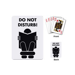 Do Not Disturb Sign Board Playing Cards (mini)  by AnjaniArt