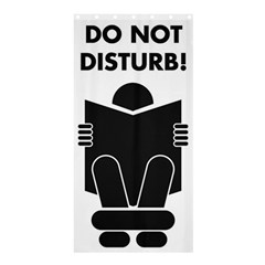 Do Not Disturb Sign Board Shower Curtain 36  X 72  (stall)  by AnjaniArt