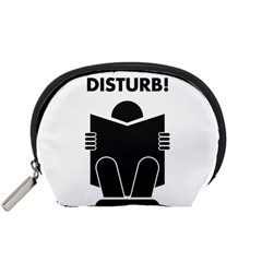 Do Not Disturb Sign Board Accessory Pouches (small)  by AnjaniArt