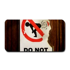 Do Not Disturb Sign Please Go Away I Don T Care Medium Bar Mats by AnjaniArt