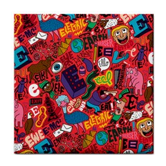 E Pattern Cartoons Tile Coasters by AnjaniArt