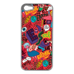E Pattern Cartoons Apple Iphone 5 Case (silver)