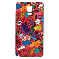 E Pattern Cartoons Galaxy Note 4 Back Case by AnjaniArt