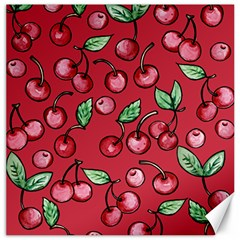 Cherry Cherries For Spring Canvas 12  X 12   by BubbSnugg