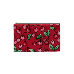 Cherry Cherries For Spring Cosmetic Bag (small)  by BubbSnugg