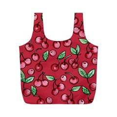 Cherry Cherries For Spring Full Print Recycle Bags (m)  by BubbSnugg