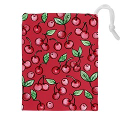 Cherry Cherries For Spring Drawstring Pouches (xxl) by BubbSnugg