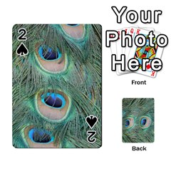 Peacock Feathers Macro Playing Cards 54 Designs  by GiftsbyNature