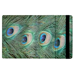 Peacock Feathers Macro Apple Ipad 3/4 Flip Case by GiftsbyNature