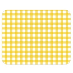 Deep Yellow Gingham Classic Traditional Pattern Double Sided Flano Blanket (Medium)  by CircusValleyMall