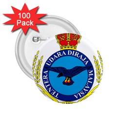 Crest Of Royal Malaysian Air Force 2 25  Buttons (100 Pack)  by abbeyz71