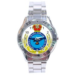 Crest Of Royal Malaysian Air Force Stainless Steel Analogue Watch by abbeyz71