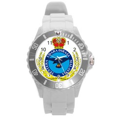 Crest Of Royal Malaysian Air Force Round Plastic Sport Watch (l) by abbeyz71