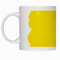 Flag Map Of Bolivia White Mugs
