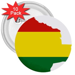Flag Map of Bolivia 3  Buttons (10 pack)  by abbeyz71