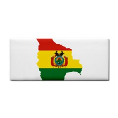 Flag Map Of Bolivia  Hand Towel