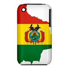 Flag Map Of Bolivia  Apple Iphone 3g/3gs Hardshell Case (pc+silicone) by abbeyz71