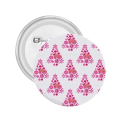 Pink Flamingo Santa Snowflake Tree  2 25  Buttons
