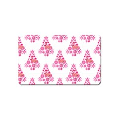 Pink Flamingo Santa Snowflake Tree  Magnet (name Card)