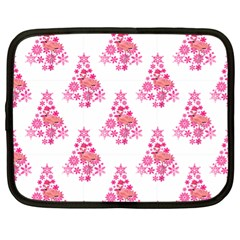 Pink Flamingo Santa Snowflake Tree  Netbook Case (xl)