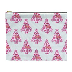 Pink Flamingo Santa Snowflake Tree  Cosmetic Bag (xl)