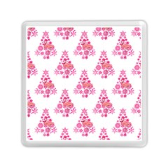 Pink Flamingo Santa Snowflake Tree  Memory Card Reader (square)