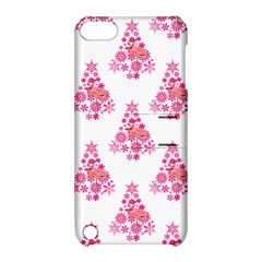 Pink Flamingo Santa Snowflake Tree  Apple Ipod Touch 5 Hardshell Case With Stand by CrypticFragmentsColors