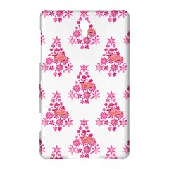 Pink Flamingo Santa Snowflake Tree  Samsung Galaxy Tab S (8.4 ) Hardshell Case  by CrypticFragmentsColors
