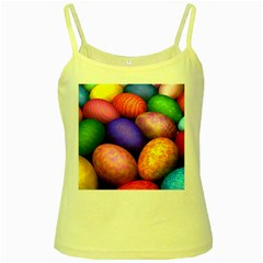 Easter Egg Yellow Spaghetti Tank