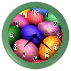 Easter Egg Color Wall Clocks