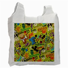 F Pattern Cartoons Recycle Bag (one Side) by AnjaniArt
