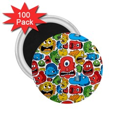 Face Creeps Cartoons Fun 2.25  Magnets (100 pack)  by AnjaniArt