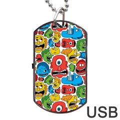 Face Creeps Cartoons Fun Dog Tag Usb Flash (one Side) by AnjaniArt