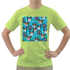Face Dog And Bond Green T Shirt